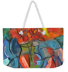 Still Life-flowers With Fruit Weekender Tote Bag