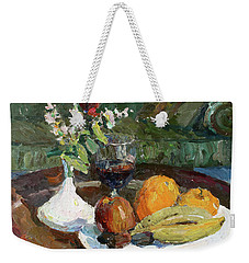 Still Life In The Hotel Weekender Tote Bag