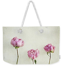 Still Life Of Dried Peonies With Texture Overlay Weekender Tote Bag