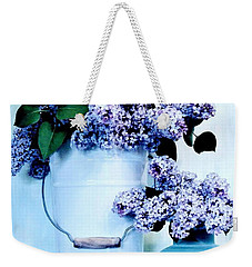 Still Life Of Lilacs Weekender Tote Bag