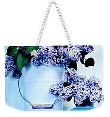 Still Life Of Lilacs Weekender Tote Bag