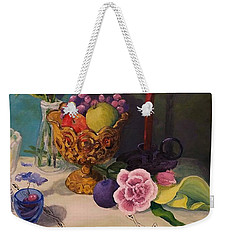 Still Life On Lace Weekender Tote Bag