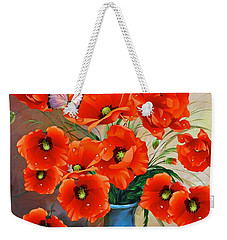 Still Life Poppies Weekender Tote Bag