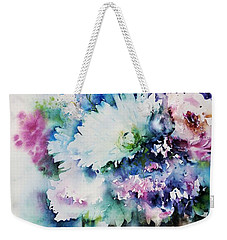 Still Life Rose Bouquet Watercolour Weekender Tote Bag