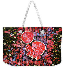Weekender Tote Bag featuring the painting Still Life. The Taste Of Summer. by Anastasija Kraineva