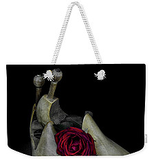 Weekender Tote Bag featuring the photograph Still Life With Transitories by Ronda Broatch