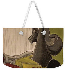 Still Life With A Black Horse- Cubism Weekender Tote Bag