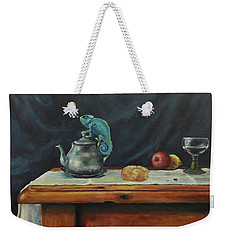 Still Life With A Chameleon Weekender Tote Bag