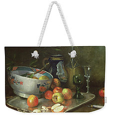 Still Life With Apples Weekender Tote Bag by Eugene Henri Cauchois