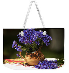 Still Life With Blue Flowers Weekender Tote Bag