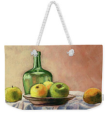 Still Life With Bottle Weekender Tote Bag by Janet King