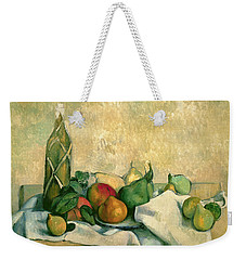 Still Life With Bottle Of Liqueur Weekender Tote Bag by Paul Cezanne