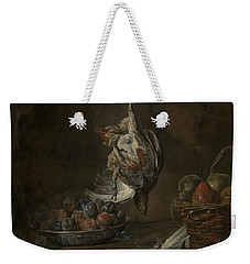 Still Life With Dead Pheasant Weekender Tote Bag by Jean-Baptiste-Simeon Chardin