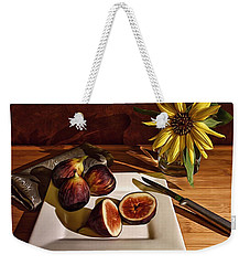Still Life With Flower And Figs Weekender Tote Bag