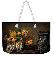 Still Life With Flowers And Camera Weekender Tote Bag by Wim Lanclus