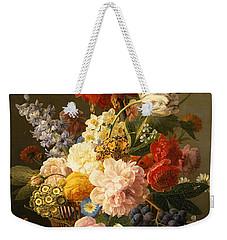 Still Life With Flowers And Fruit Weekender Tote Bag by Jan Frans van Dael