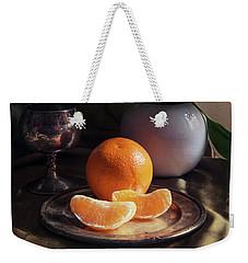 Still Life With Fresh Flowers And Tangerines Weekender Tote Bag by Jaroslaw Blaminsky