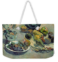 Still Life With Fruit Weekender Tote Bag by Paul Gauguin
