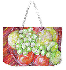 Still Life With Fruits. Harvest Time.painting  Weekender Tote Bag
