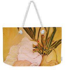Still Life With Funny Sheep Weekender Tote Bag