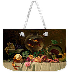 Still Life With Goldfish 1873 Weekender Tote Bag by Padre Art