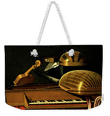 Still Life With Musical Instruments And Books Weekender Tote Bag