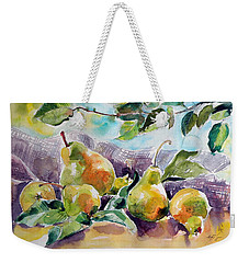 Still Life With Pears Weekender Tote Bag by Kovacs Anna Brigitta