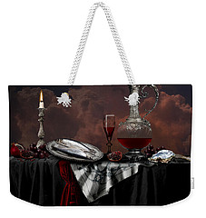 Still Life With Red Wine Weekender Tote Bag