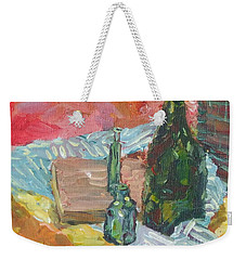Still Life With Three Bottles Weekender Tote Bag