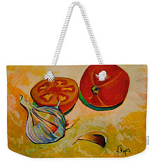 Still Life With Tomatoes And Garlic Weekender Tote Bag