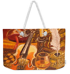Still Life With Violin And Candle Weekender Tote Bag