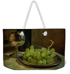 Still Life With Wine And Green Grapes Weekender Tote Bag