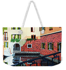 Still, On The Venice Canal, Prints From The Original Oil Painting Weekender Tote Bag