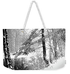 Still Snowing Weekender Tote Bag