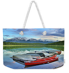 Weekender Tote Bag featuring the photograph Still Waters At Lake Patricia by Tara Turner