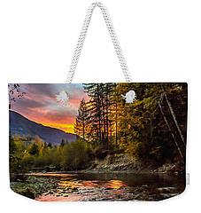 Stillaguamish Sunset Weekender Tote Bag
