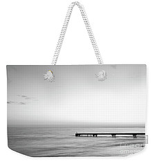 Weekender Tote Bag featuring the photograph Stillness In Black And White by Ivy Ho