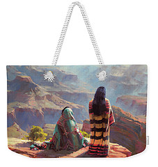 Weekender Tote Bag featuring the painting Stillness by Steve Henderson