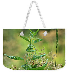 Weekender Tote Bag featuring the photograph Stinging Nettle by Ann E Robson