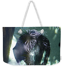 Weekender Tote Bag featuring the photograph Stingray Swim V by Francesca Mackenney