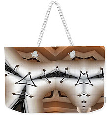 Weekender Tote Bag featuring the digital art Stitched 1 by Ron Bissett