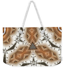 Weekender Tote Bag featuring the digital art Stitched 2 by Ron Bissett