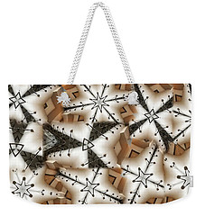 Weekender Tote Bag featuring the digital art Stitched 3 by Ron Bissett