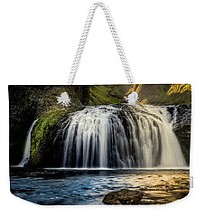 Weekender Tote Bag featuring the photograph Stjornarfoss In Afternoon Light by Rikk Flohr