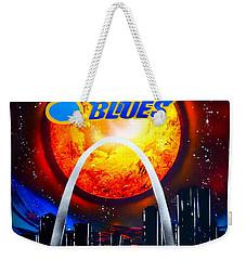 Stl Blues  Darkened Weekender Tote Bag