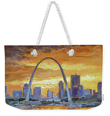 St.louis Arch - Sunset Weekender Tote Bag