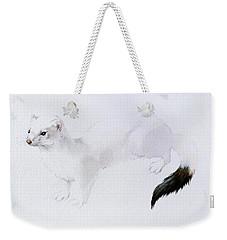 Stoat Watercolor Weekender Tote Bag