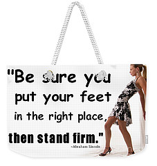 Stand Firm Weekender Tote Bag by Bob Pardue
