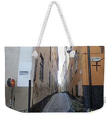 Stockholm Alley Weekender Tote Bag by Margaret Brooks
