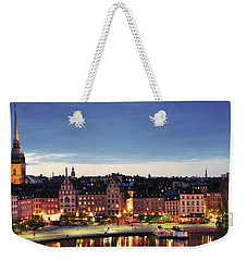 Stockholm By Night Weekender Tote Bag